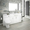 Cove 1700mm Vanity Unit Suite + Tap (High Gloss White - Depth 330mm) profile small image view 1