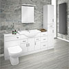 Cove 2020mm Bathroom Furniture Pack (High Gloss White - Depth 330mm) profile small image view 1