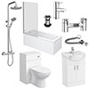Cove Complete Modern Bathroom Package (Inc. Standard Shower Bath) profile small image view 1