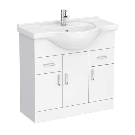 Cove White 850mm Vanity Unit