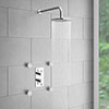 Cruze Concealed Thermostatic Valve with Diverter, Fixed Shower Head + 4 Body Jets profile small image view 1