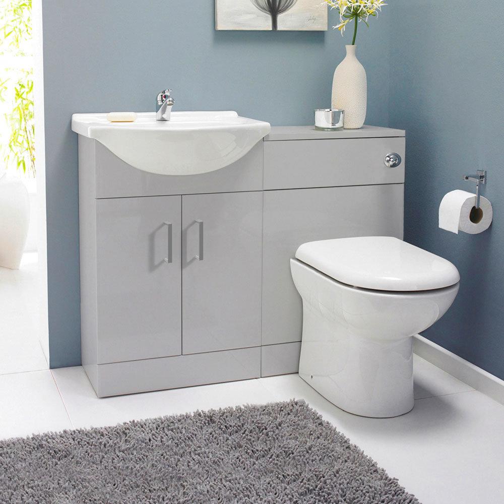 Cove 1050mm Light Grey Vanity Unit Cloakroom Suite