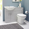 Cove 1050mm Light Grey Vanity Unit Cloakroom Suite profile small image view 1