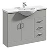 Cove Light Grey 1050mm Large Vanity Unit profile small image view 1