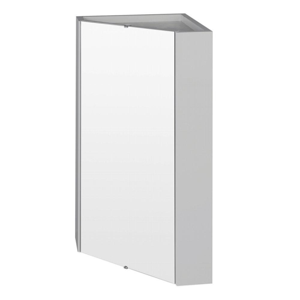 Cove Gloss Light Grey Corner Mirror Cabinet Victorian Plumbing Uk