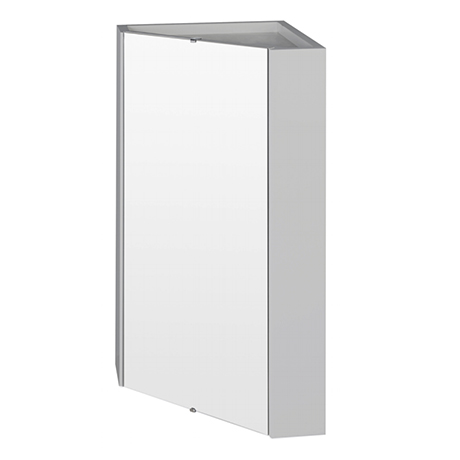 Cove Gloss Light Grey Corner Mirror Cabinet