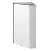 Cove Gloss Light Grey Corner Mirror Cabinet profile small image view 1