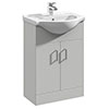 Cove Light Grey 550mm Vanity Unit profile small image view 1