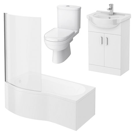 Cove Small Shower Bath Suite
