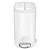 simplehuman 10 Litre Butterfly Pedal Bin - White Steel - CW2042 profile small image view 1
