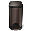 simplehuman 10 Litre Butterfly Pedal Bin - Dark Bronze - CW2043 profile small image view 1