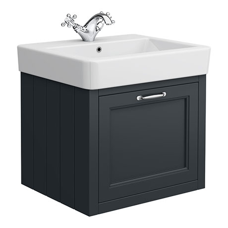 Chatsworth Traditional Graphite 560mm Wall Hung Vanity