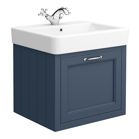 Chatsworth Traditional Blue 560mm Wall Hung Vanity