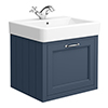 Chatsworth Traditional Blue 560mm Wall Hung Vanity profile small image view 1
