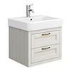 Chatsworth Traditional Grey 560mm 2 Drawer Wall Hung Vanity profile small image view 1