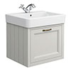Chatsworth Traditional Grey 560mm Wall Hung Vanity Small Image