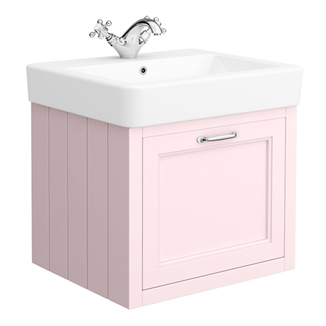 Chatsworth Traditional Pink 560mm Wall Hung Vanity