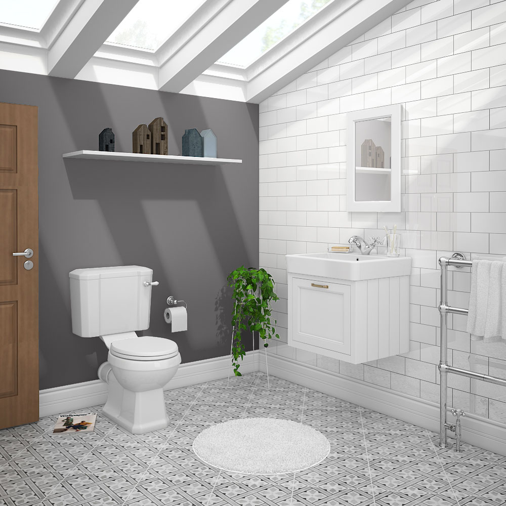 Planning a Victorian-style bathroom? Why not add a modern edge to your design by including a wall hung traditional vanity unit.