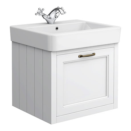 Chatsworth Traditional White 560mm Wall Hung Vanity