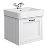 Chatsworth Traditional White 560mm Wall Hung Vanity profile small image view 1