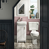 Chatsworth Traditional White Cloakroom Suite (Vanity Unit + Close Coupled Toilet) profile small image view 1