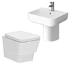 Cambria Wall Hung Cloakroom Suite profile small image view 1