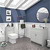 Chatsworth White Marble 810mm Traditional Grey Vanity Unit + Toilet Package profile small image view 1