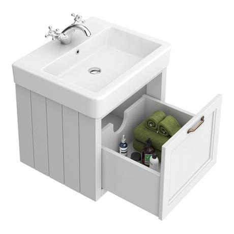 chatsworth white cloakroom suite (wall hung vanity unit
