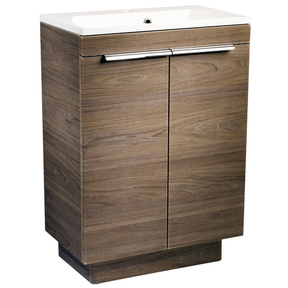 Roper Rhodes Cypher 600mm Freestanding Unit - Dark Elm Large Image