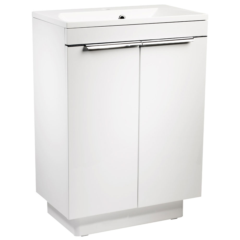 Roper Rhodes Cypher 600mm Freestanding Unit - Gloss White Large Image