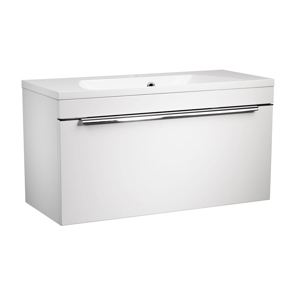 Roper Rhodes Cypher 800mm Wall Mounted Unit - Gloss White Large Image