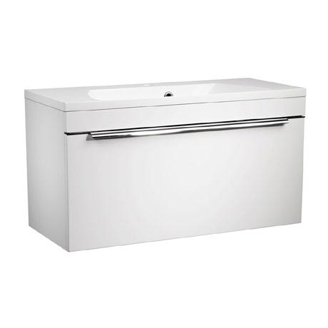 Roper Rhodes Cypher 800mm Wall Mounted Unit - Gloss White