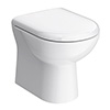 Cruze Back to Wall Toilet Pan + Soft Close Seat profile small image view 1