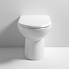 Cruze Comfort Height Back to Wall Toilet Pan + Soft Close Seat profile small image view 1