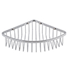 Cruze Chrome Wire Corner Shower Basket profile small image view 1