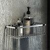 Arezzo Chrome 300mm Wire Shower Basket profile small image view 1