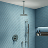 Cruze Chrome Shower System (Valve inc. 200mm Ceiling Mounted Head + Slide Rail Kit with Handset) profile small image view 1