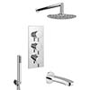 Cruze Shower Package (Rainfall Head, Handset + Bath Spout) profile small image view 1