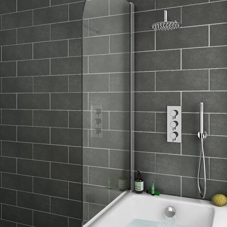 Cruze Shower Package (Rainfall Wall Mounted Head, Handset + Freeflow Bath Filler)