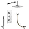 Cruze Shower Package (Rainfall Wall Mounted Head, Handset + Freeflow Bath Filler) profile small image view 1