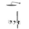 Cruze Round Wall Mounted Thermostatic Shower Valve with Handset + 300mm Fixed Shower Head profile small image view 1