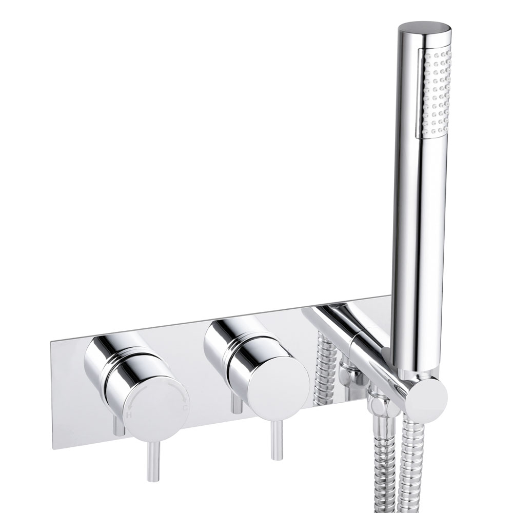 Cruze Round Wall Mounted Thermostatic Shower Valve with Handset