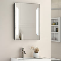 Calgary 500x700mm LED Mirror Inc. Touch Sensor, Anti-Fog + Shaving Port  Medium Image