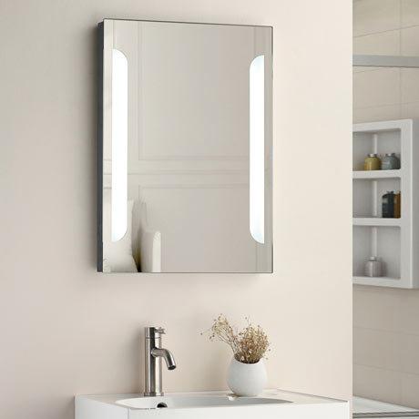 Calgary 500x700mm LED Mirror Inc. Touch Sensor, Anti-Fog + Shaving Port