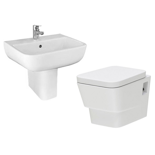 Cambria Wall Hung Cloakroom Suite profile large image view 1