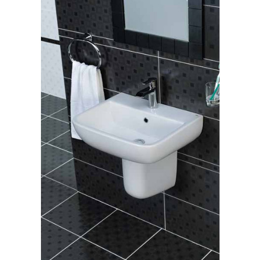 Cambria Wall Hung Cloakroom Suite In Bathroom Large Image