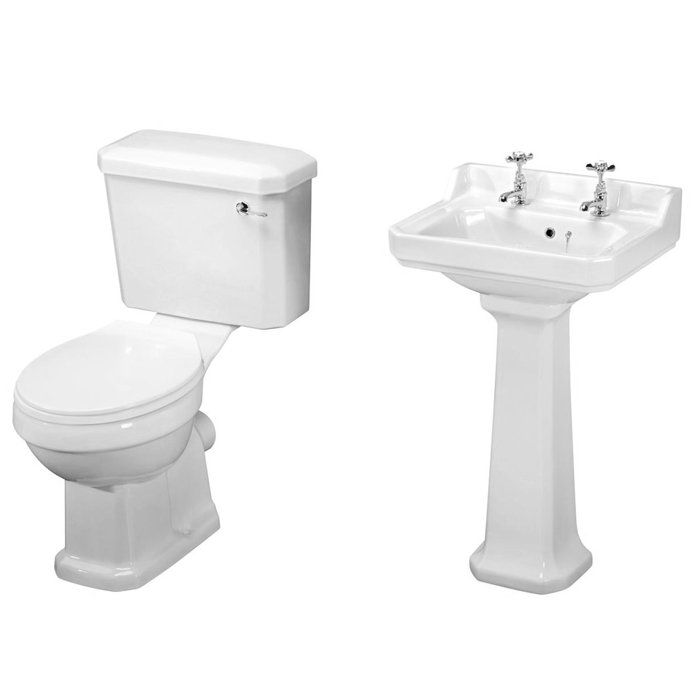 Carlton Bathroom Suite with Reef Offset Corner Bath Profile Large Image