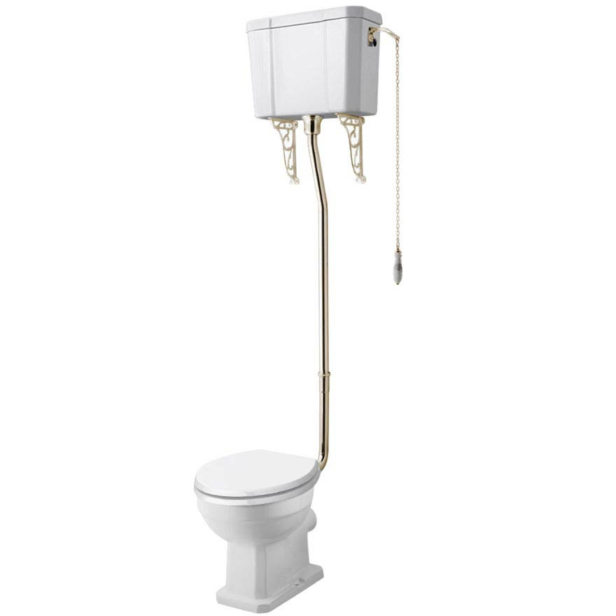 Carlton Gold High Level Traditional Toilet (WC, Cistern + Pan)