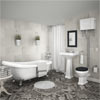 Carlton High Level Bathroom Suite + Roll Top Bath profile small image view 1