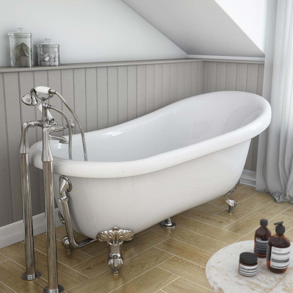 Carlton High Level Bathroom Suite Roll Top Bath Victorian Plumbing